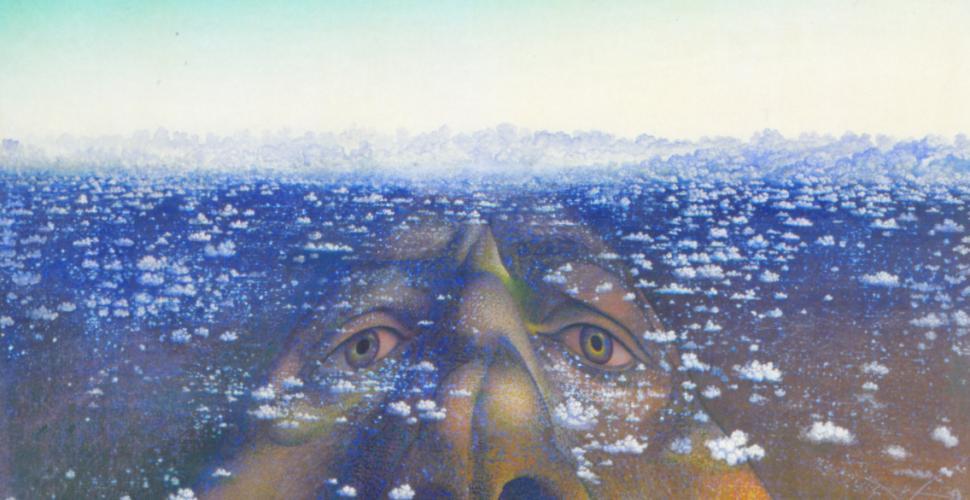 """Rudolf Hausner, """"Adam Massive"""", Mixed Media, 1969"""