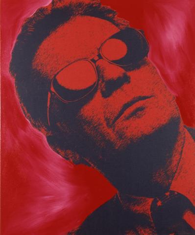 Steve Kaufman, Portrait Peter Infeld I, Mischtechnik, 2002