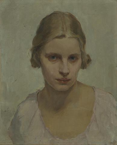 Alfred Mieses, Bildnis Margaretha Infeld, Öl auf Leinwand, um 1930