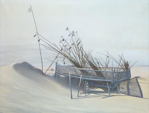 """Eduard Angeli, """"Das Ende der Reise"""", Acryl auf Leinwand, 1976"""