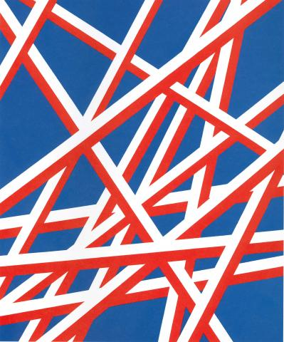 """Florentina Pakosta, """"1994/1"""", Acryl auf Leinwand, 1994"""