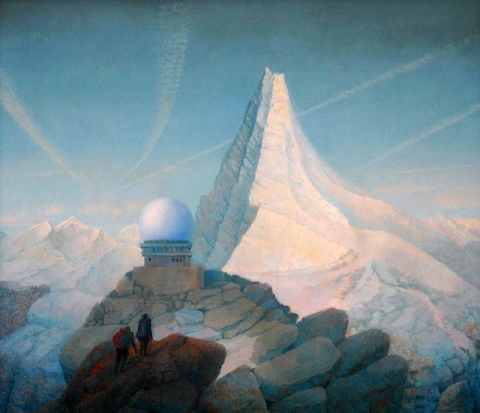 Hanno Karlhuber, Das hohe Berg, Acryl/Öl auf Hartfaser, 2004