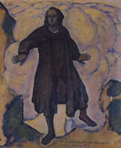 """Koloman Moser, """"Allegorische Figur"""", Öl auf Leinwand, um 1915"""