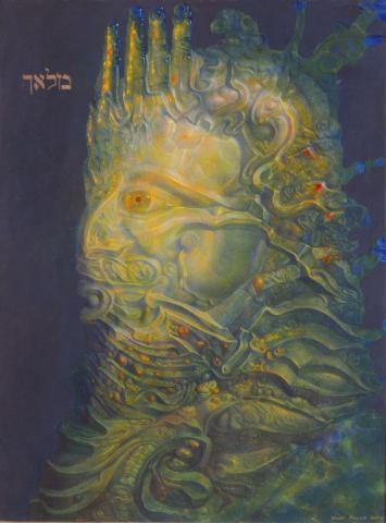 """Ernst Fuchs, """"Grüner Malach"""", Mischtechnik, 1961/1963"""