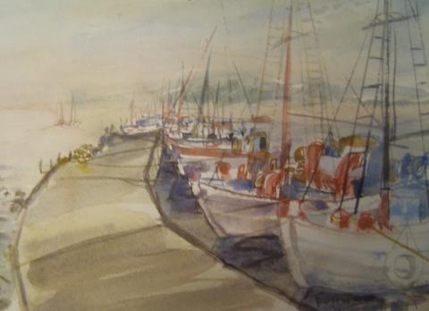 """Günter COSTAZZA, """"Insel Kos"""", Aquarell, 2008"""