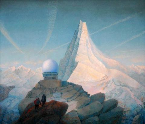 "Hanno Karlhuber, ""Das hohe Berg"", Acryl/Öl auf Hartfaser, 2004"