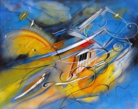 "Kurt Kramer, ""Hommage a. M."", Öl auf Leinwand, 1994"