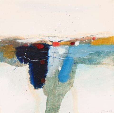 "Savio Verra, ""Winterfelder"", Öl auf Leinwand, 2017"