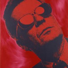 Steve Kaufman, Portrait Peter Infeld, Mischtechnik: Acryl, Siebdruck auf Leinen, 2002