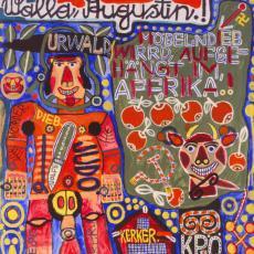 August Walla, Möbeldieb wird aufgehängt im Urwald. Afrika! Mischtechnik, 1992