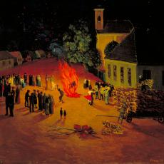 Franjo Mraz, O.T., Öl auf Leinwand, 1939