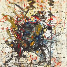 Hans Staudacher, So, So oder So, Öl auf Leinwand, 1997