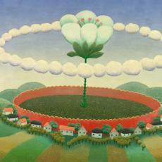 Ivan Rabuzin, Die Welt in der Vase, Öl auf Leinwand, 1966