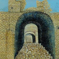 Matija Skurjeni, Die alte Burg von Samobor, Öl auf Leinwand, 1958