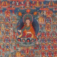 Thangka, Kaisertempera auf Leinen, 18 Jh.