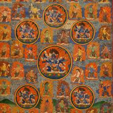 Thangka, Kaisertempera auf Leinen, 19. Jahrhundert