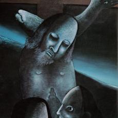 Joze Tisnikar, Gebet, Öl und Tempera auf Leinwand, 1975